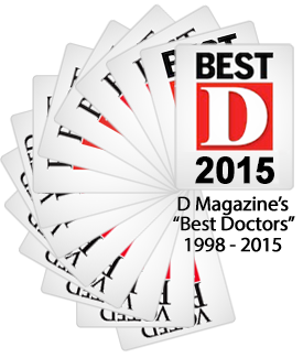 D Magazine Best Doctors in Dallas 1998 - 2012